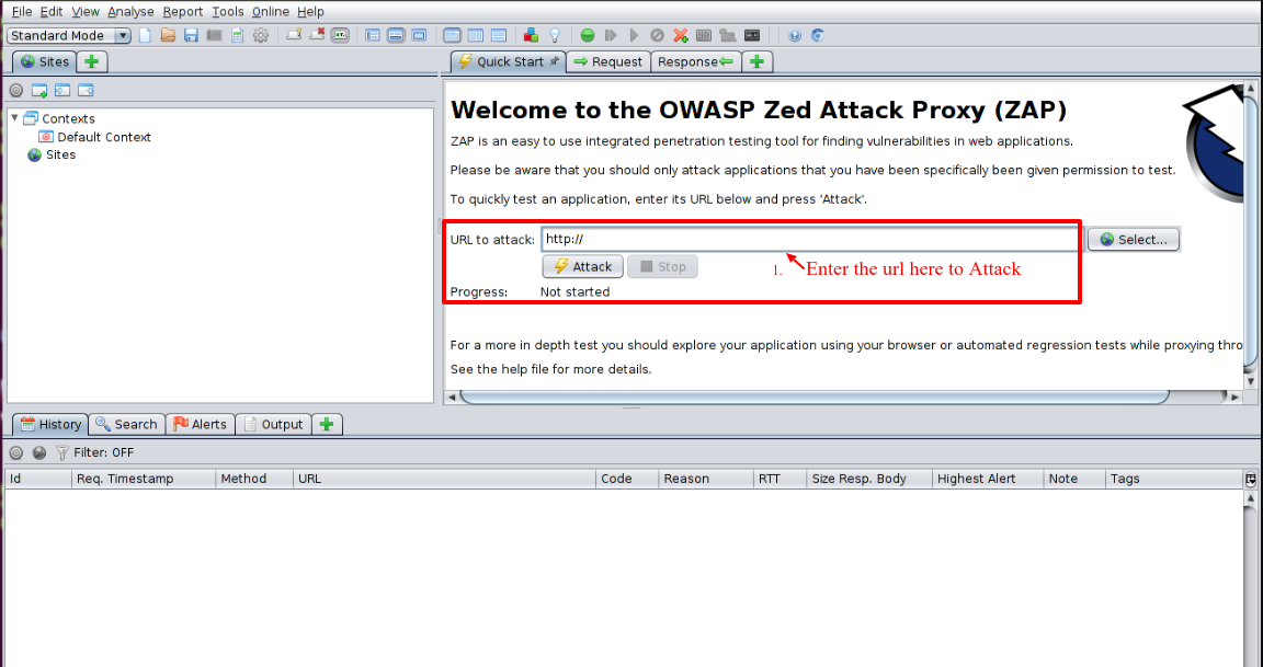 owasp zed attack proxy scan