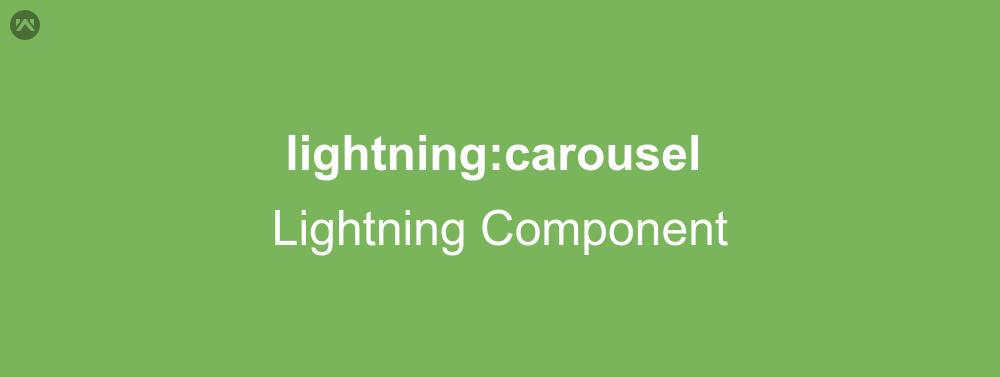 lightning:carousel In Lightning Component