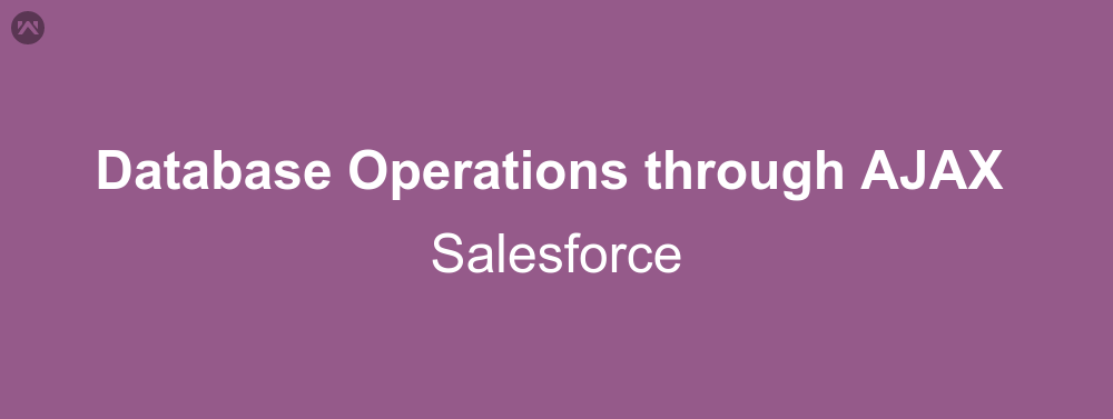 Database Operations through AJAX