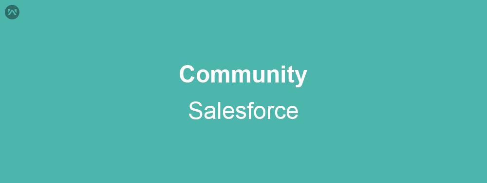 Community in Salesforce